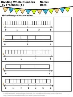 dividing fractions using models worksheet 1000 images about fractions on pinterest numbers and. Black Bedroom Furniture Sets. Home Design Ideas