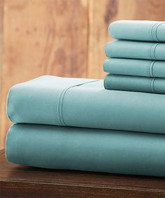 Love this Light Blue 6-Piece Everyday Essentials Microfiber Sheet Set on #zulily! #zulilyfinds