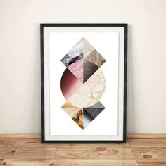 Geometric Textures Abstract Art Digital por WildMoonriseDesigns