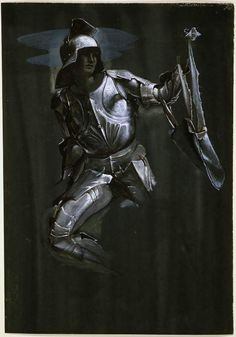 Study of Armour: Perseus in 'The Finding of Medusa'. Edward Coley Burne-Jones (1833-1898)