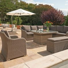 Kettler Madrid Complete Corner Set In Rattan With Taupe Cushions - (KMADRATCO) - Garden Furniture World