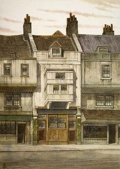 The Three Cripples Tavern, Saffron Hill - oft-frequented by Bill Sikes and Nancy in Oliver Twist