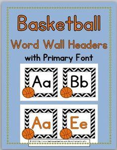 Basketball Word Wall Headers (Sports Theme)