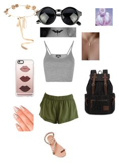 """Untitled #22"" by kaitlyn-ogg on Polyvore featuring Topshop, Elina Linardaki, Eugenia Kim, Casetify and Elegant Touch"