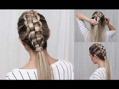 Dutch 4-strand braid tutorial - HairAndNailsInspiration - YouTube
