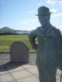 Waterville, Ireland and Charlie Chaplin Statue ~ Charlie had a home here