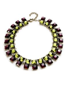 Chocolate and chartreuse gems