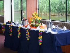 Island Style Theme Corporate Events, Buffet, Entertaining, Island, Table Decorations, Home Decor, Style, Swag, Decoration Home