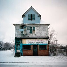 Detroit  Winter by Kevin Bauman, via Behance