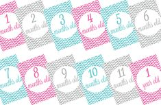 Free printable baby monthly milestone signs | Kid Magazine