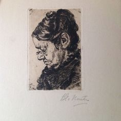 Pictured is Mrs. P.j. Verstege-Andel. ETS by Barbara van Houten (1862-1950) laid paper. ETS is included in catalogue Knuttel: No. 92