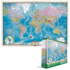 Eurographics Jigsaw Puzzles - Eurographics Map of the World 2000pc $17