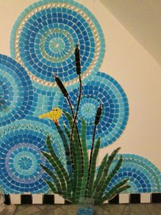 Diy bathroom art stained glass 52 new ideas Mosaic Tile Art, Mosaic Bathroom, Mosaic Artwork, Mosaic Crafts, Mosaic Projects, Mosaic Glass, Glass Art, Bathroom Wall, Mosaics