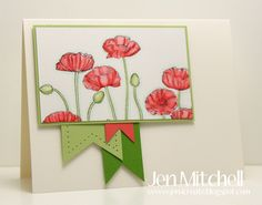 Watercolored Pleasant Poppies by jenmitchell - Cards and Paper Crafts at Splitcoaststampers
