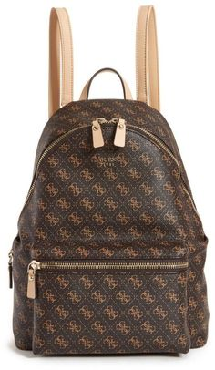 eee8847c19cb GUESS Leeza Logo Backpack Guess Backpack, Backpack Bags, Guess Bags, Faux  Leather Backpack