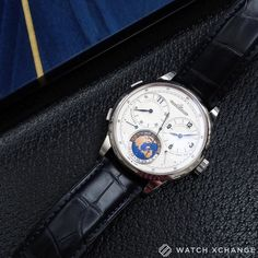 World Time // Number 2 of a very rare 100 Paris Boutique edition white gold Jaeger-LeCoultre Duomètre Unique Travel Time // Available now at http://ift.tt/1qIwSwQ