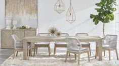Traditions Natural Gray Adler Extendable Dining Table Wicker Dining Chairs, Dining Arm Chair, Extendable Dining Table, Upholstered Dining Chairs, Dining Room Furniture, Dining Rooms, Kitchen Dinning, Dining Tables, Kitchen Decor