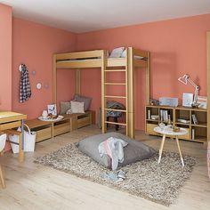 Cama simple / alta / moderna / de madera DEBE.DELUXE : TEENAGERS 01 de Breuyn Möbel GmbH