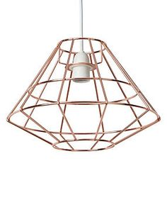 £28  Dining?M&S Copper Toyko Wide Ceiling Lamp Shade