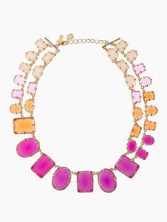 coated confetti small statement necklace #katespadeny