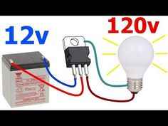 How to Make a to Voltage Inverter Easy and Fast! - How to Make a to Voltage Inverter Easy and Fast! Electrical Circuit Diagram, Home Electrical Wiring, Electrical Projects, Electrical Installation, Electronics Mini Projects, Electronics Components, Diy Electronics, Electronic Circuit Design, Electronic Engineering
