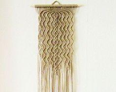 Macrame Wall Hanging - Algae - Handmade Macrame Home Decor by Evgenia Garcia