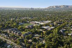 Aerial view of Westminster College, Salt Lake City, UT.