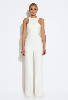This AQ/AQ white jumpsuit is so versatile and classy. You can wear it for a dinner, as a wedding guest or for a formal event.