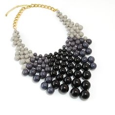 Midnight Ombre Beaded Necklace