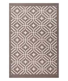 Another great find on #zulily! Gray Tribal Flat-Weave Wool Rug #zulilyfinds