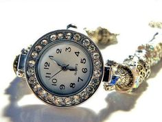 """european bead bracelet Watch silver 7-3/4""""-9-1/2"""""""