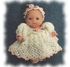 Ravelry: Zoe's Pretty White Dress Set pattern by Amy Carrico
