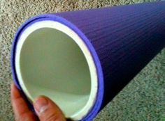$20 durable foam roller  What you will need:  24″ long 4″ PVC  – I bought mine at Lowe's for @$7.00  24″ wide yoga mat from Wal-Mart @$10.00  You will also need pvc purple and glue.    Thanks to Ryan Duncan at SpeedTraining.net for the great idea.