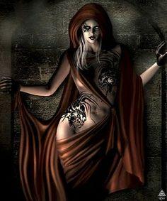 """CAPRICÓRNIO- SCÂTHACH (Deusa da Soberania)A Deusa Scâthach era conhecida como """"a Mulher que semeia o Medo"""". Deusa cujo reino era a Ilha de Skye (Sombra), onde treinava os jovens nas artes bélicas e na caça. Scâthach ensinou a Cuchulainn as técnicas de guerreiro e também os mistérios do sexo. De acordo com a lenda, ela ofereceu-lhe """"a amizade das coxas"""". Toda a guerreira celta era conhecida como uma furiosa amante erótica, mesmo podendo ser uma temível inimiga."""