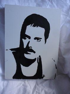 Oilpainting Freddie Mercury made by Mariola