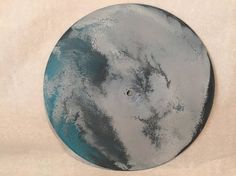 Ocean Clouds Galaxy Art Wall Hanging 10 Upcycled Vinyl