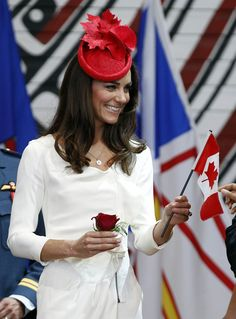 July 2011 - The Duke and Duchess of Cambridge at a citizenship ceremony in Gatineau, Quebec. The couple presented national flags to 25 new Canadians who had come from 12 different countries. Duchess Kate, Duke And Duchess, Duchess Of Cambridge, Prince William And Kate, William Kate, Couple Presents, British Royal Families, Kate Middleton Style, Queen Elizabeth Ii