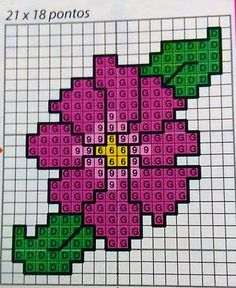 Flower x-stitch 123 Cross Stitch, Cross Stitch Beginner, Small Cross Stitch, Cross Stitch Needles, Cross Stitch Heart, Cross Stitch Cards, Cross Stitch Flowers, Cross Stitch Designs, Cross Stitch Embroidery