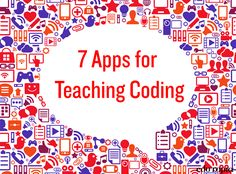 7 apps for teaching coding. Use this AWESOME list of apps to help kids stay sharp on problem-solving, creativity, & critical thinking. Apps For Teaching, Teaching Programs, Teaching Technology, Educational Technology, Teaching Kids, Teaching Methods, Teaching Biology, E Learning, Computer Coding