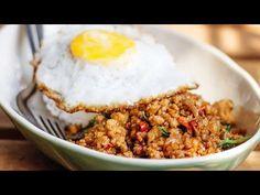 Pad Krapow Gai - Thai Stir Fry Chicken with Basil - YouTube