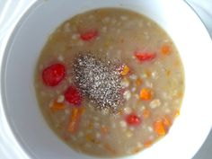 Barley and vegetable soup is a protein-packed, nutritious soup perfect for vegans, carnivores and everyone in between Vegan Barley Soup, My Favorite Food, Favorite Recipes, Protein Pack, Vegans, Soup Recipes, Oatmeal, Vegetarian, Vegetables