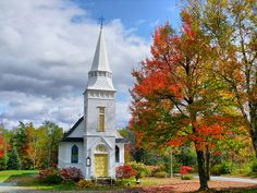 St. Matthew's Chapel in Sugar Hill might be one of the most photographed chapels in New Hampshire, and when you see it you'll understand why.