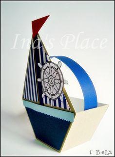 Ina's Place Handmade Cards: Invitación temática: Marinero