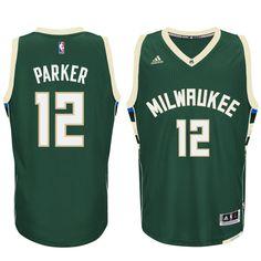 Jabari Parker Milwaukee Bucks adidas Swingman climacool Jersey - Hunter Green