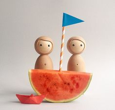 #TBT to the summer of 2015 when sailing in a watermelon was a thing to try! . . . . . #kids #children #toys #design #family #beautiful #travel #toysdesign #technology #minimalism #minimalist #simplicity #lessismore #organic #design #vaikai #kids #iot #wood #sustainableliving #organic #handmade #ecofriendly #theartofslowliving #watermelon #sailor