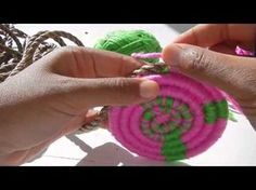 Craft School Oz - Starting a circle for a coiled basket using a magic circle. - YouTube