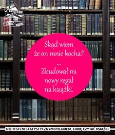 Zdjęcie użytkownika Nie jestem statystycznym Polakiem, lubię czytać książki. I Love Books, Book Worms, Motivation, Education, Reading, My Love, Memes, Words, Sweet