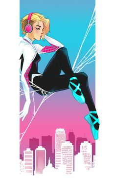 SpiderGwen pics (masked and unmasked), Irene Flores Marvel Fan Art, Marvel Comics Art, Marvel Heroes, Marvel Spider Gwen, Ghost Marvel, Spider Girl, Spider Women, The Ancient Magus Bride, Gwen Stacy