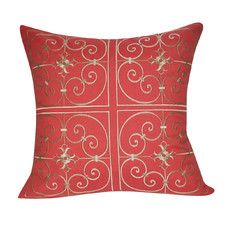 Floral Embroidered Decorative Throw Pillow