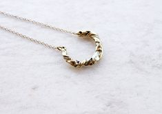 Delicate simple necklace - statement horseshoe charm necklace - lucky jewelry - good luck necklace - wreath necklace gift